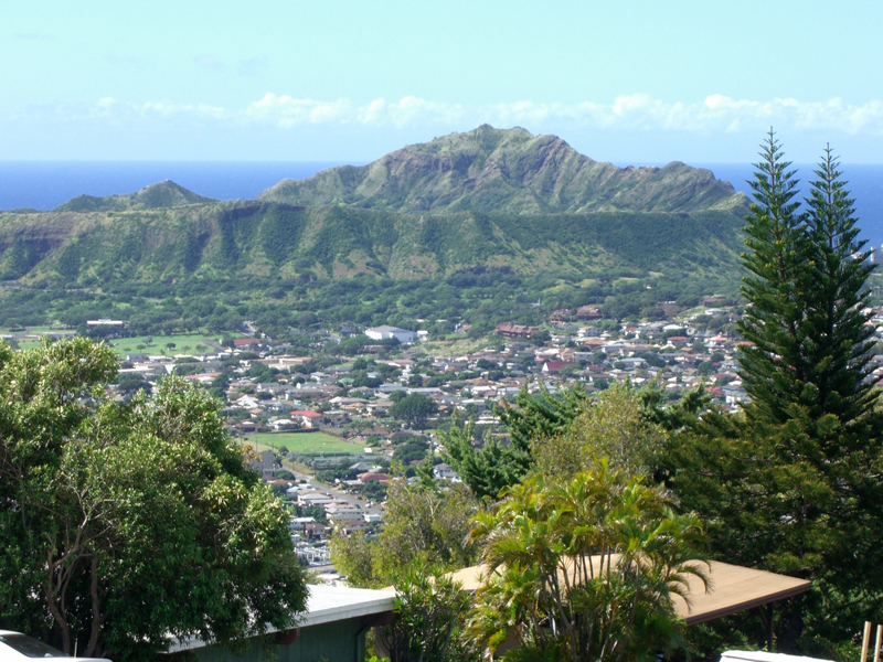 diamond head from Waialae Nui Ridge